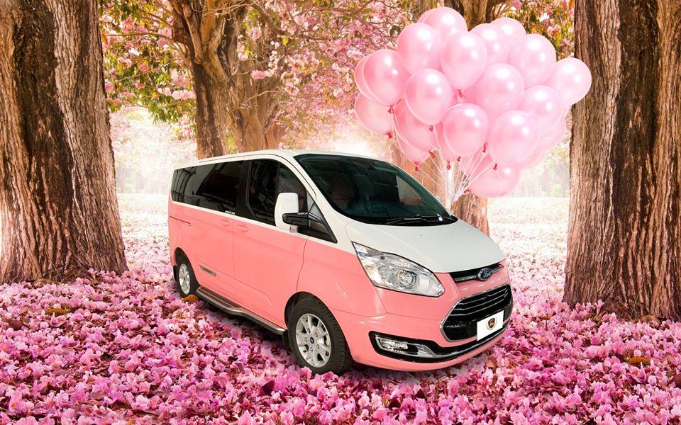 ford tourneo limousine màu hồng 6