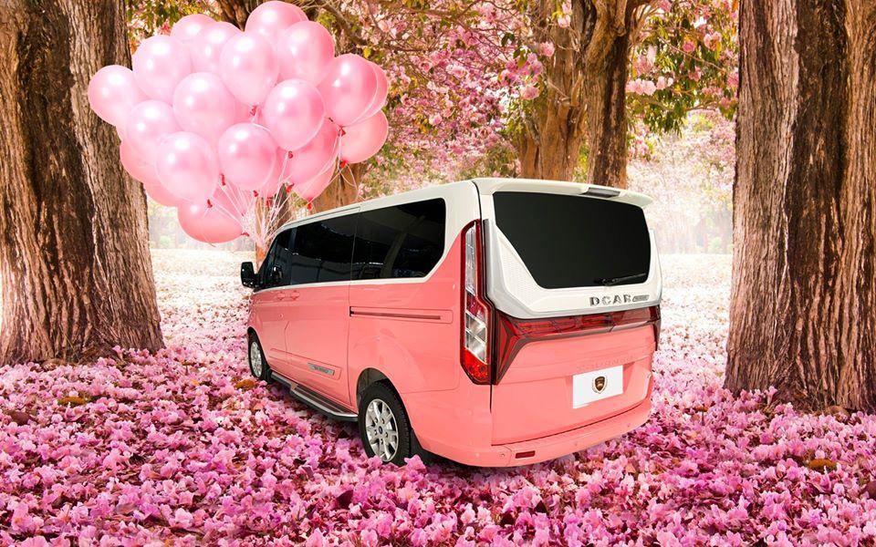 ford tourneo limousine màu hồng 7